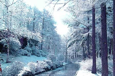 4月なのに雪景色