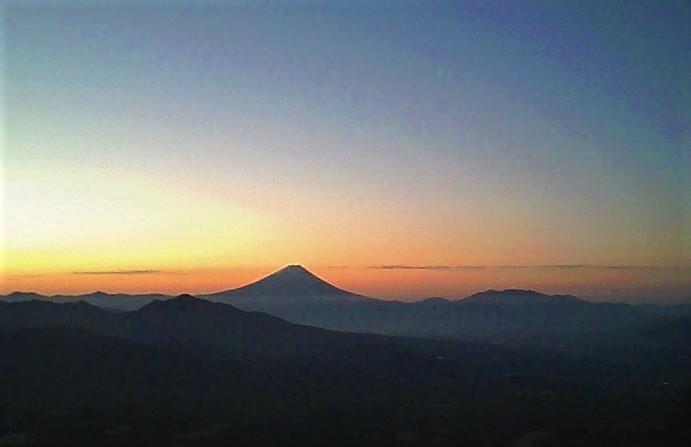 八ヶ岳・富士見高原の宿/富士山と日の出