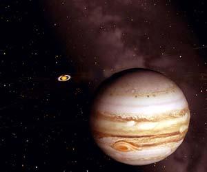 宇宙 Part4/木星と土星のイラスト