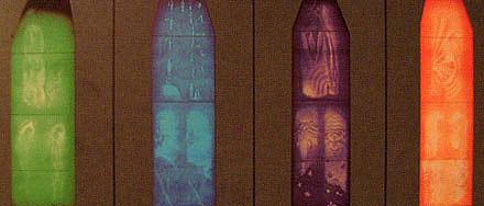 シュタイナー建築/Glass in The 2'nd Goetheanum