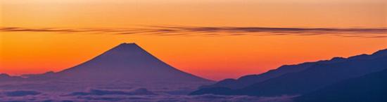 八ヶ岳・富士見高原の初日の出